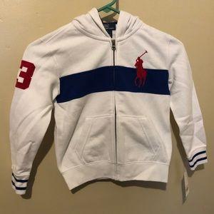 kids polo hoodie